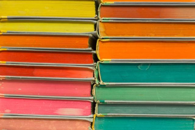 Rainbow Book Pile